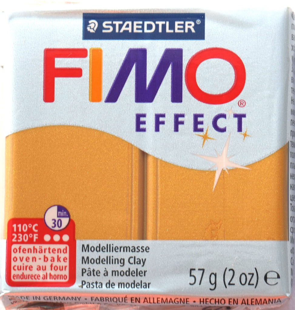 Fimo Effect 57g Clay - Metallic Gold