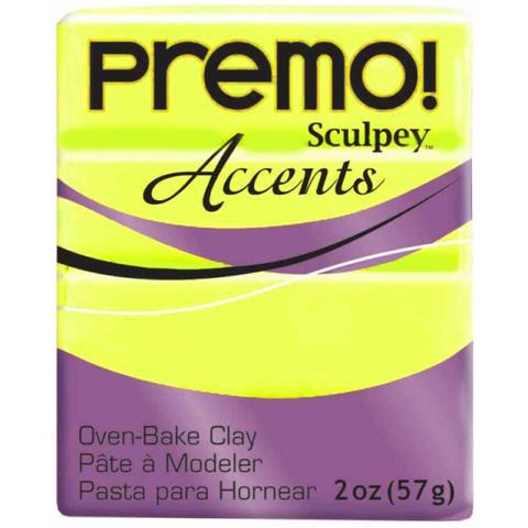 Premo Sculpey Accents 57g Clay - Fluorescent Yellow