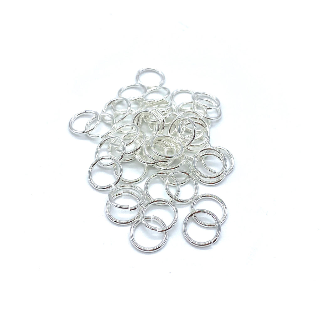 10mm Silver Stainless Steel Jump Ring - 50 pieces