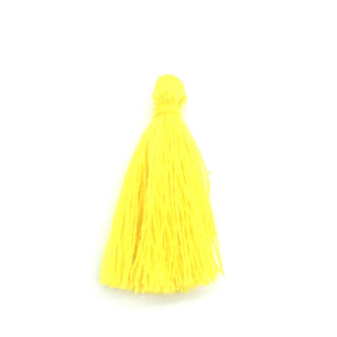 30mm Cotton Tassel Yellow