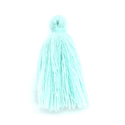 30mm Cotton Tassel Mint