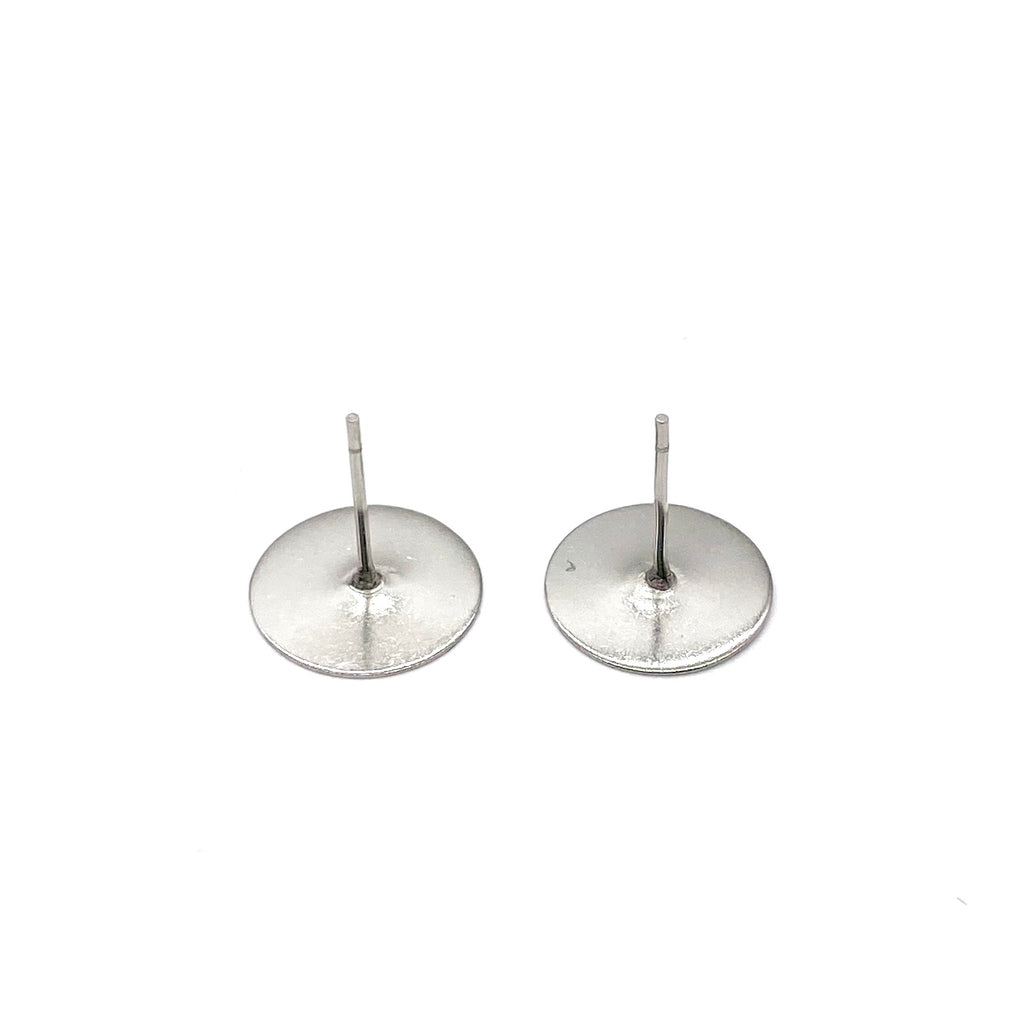 12mm Surgical Stainless Steel Earring Posts - 100 pieces