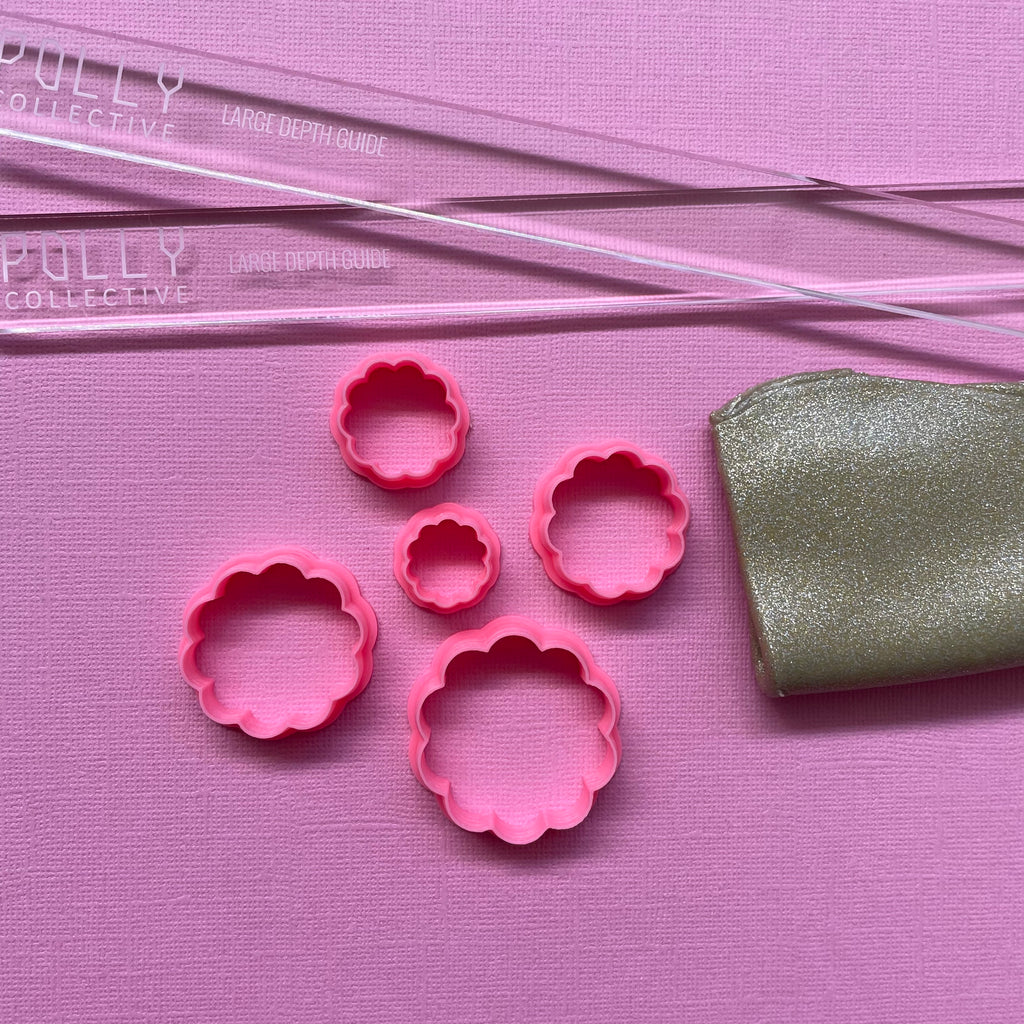 Frilled Circle Polymer Clay Cutters