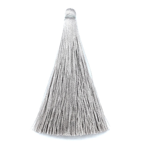 65mm Silk Tassel Silver