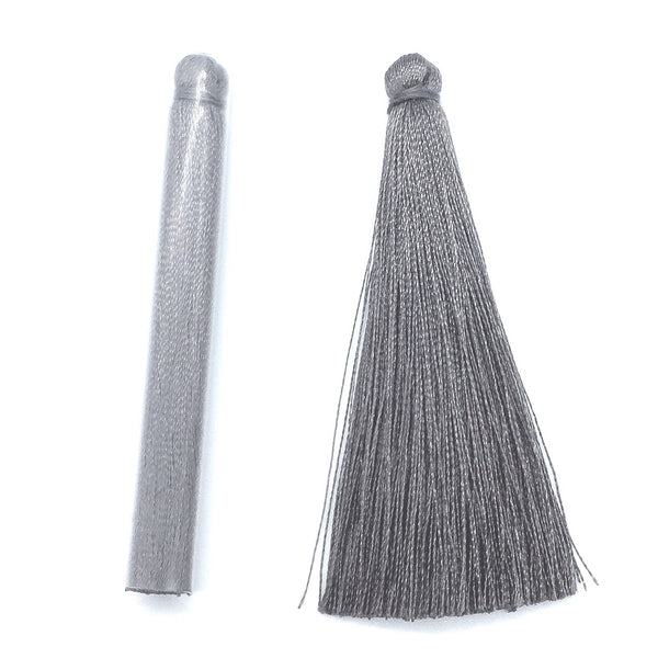65mm Silk Tassel Grey
