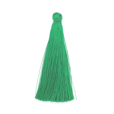 65mm Silk Tassel Green