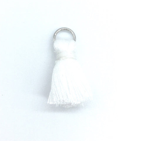 20mm Cotton Tassel White