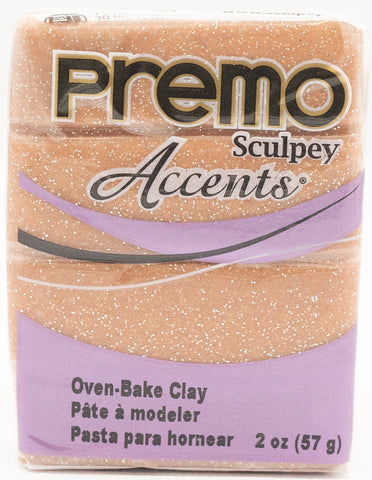 Premo Sculpey Accents 57g Clay - Rose Gold Glitter