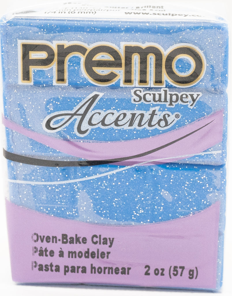 Premo Sculpey Accents 57g Clay - Blue Glitter