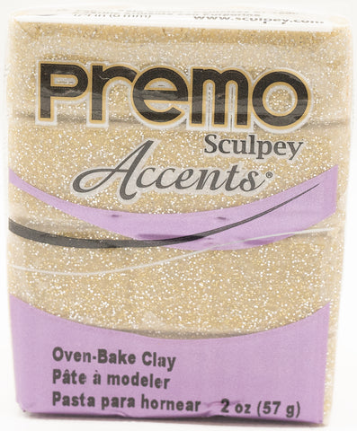 Premo Sculpey Accents 57g Clay - Yellow Gold Glitter