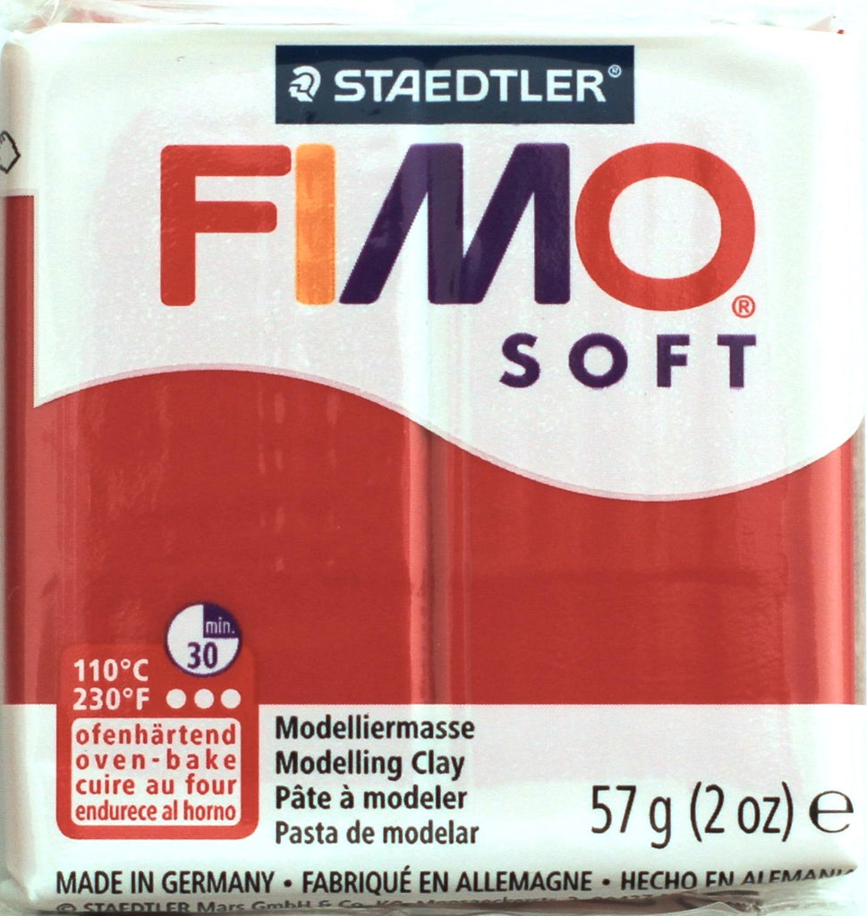 Fimo Soft 57g Clay - Cherry Red