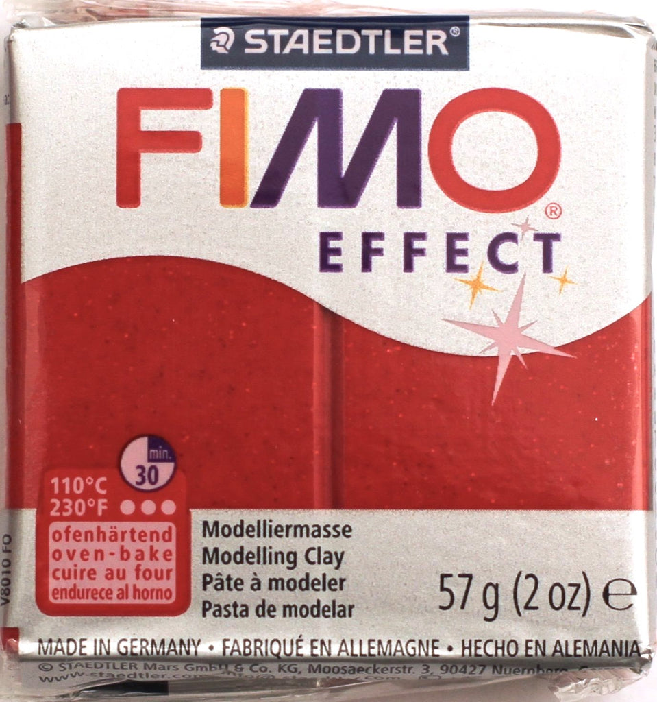 Fimo Effect 57g Clay - Red Glitter