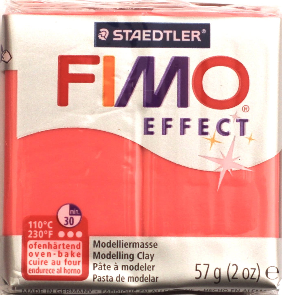 Fimo Effect 57g Clay - Red Translucent