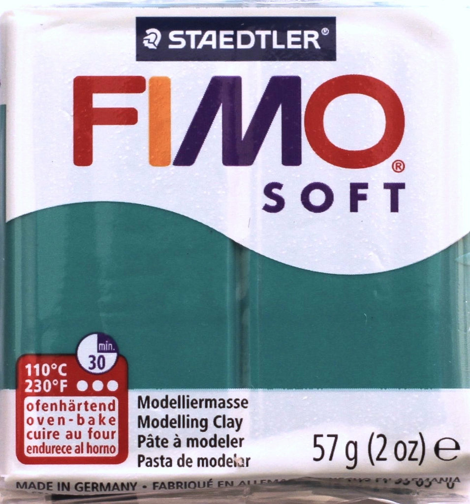 Fimo Soft 57g Clay - Emerald