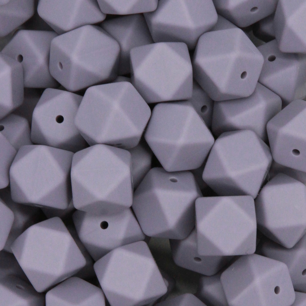 Wink 17mm Hexagon Silicone Beads - 1 piece