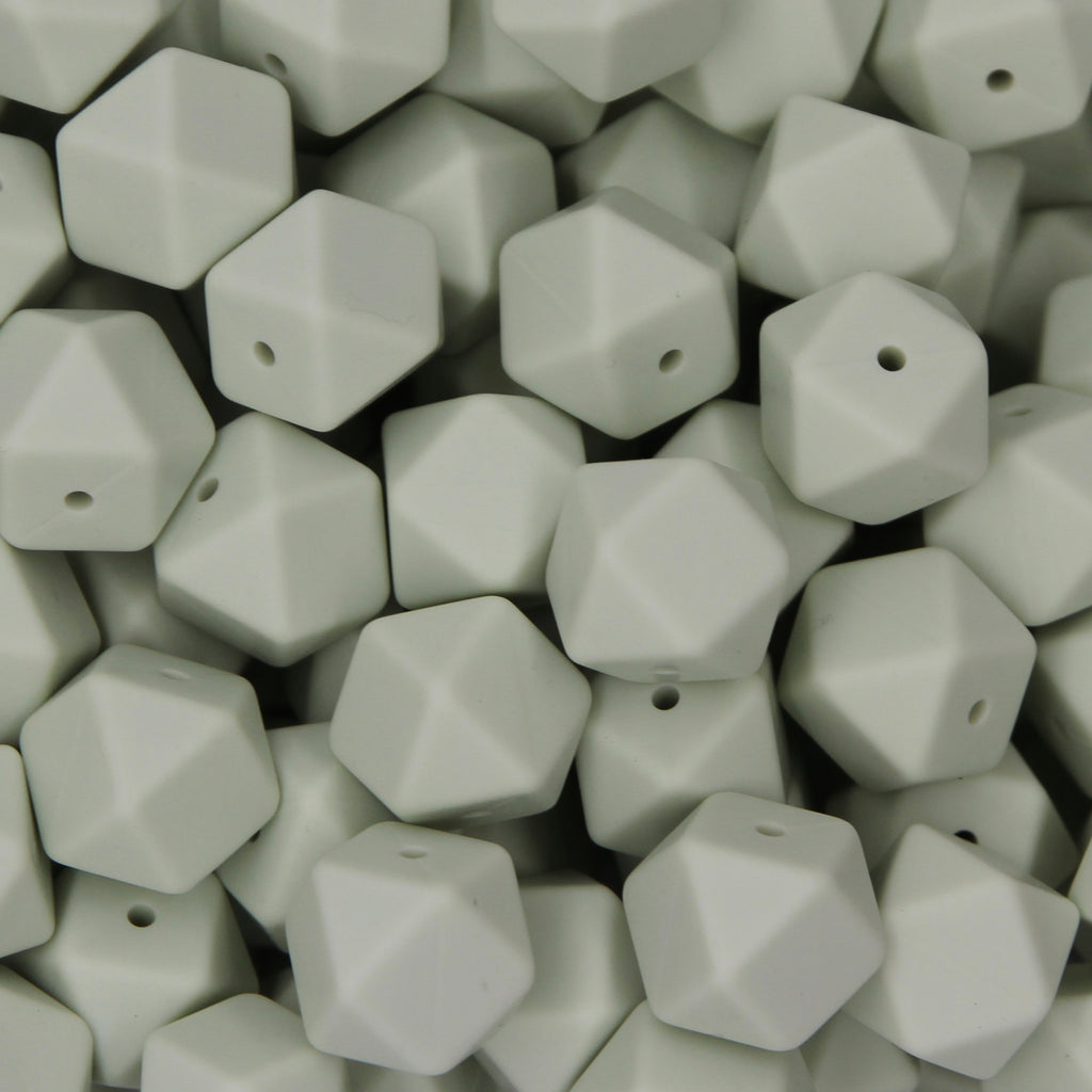 Lint 17mm Hexagon Silicone Beads - 1 piece