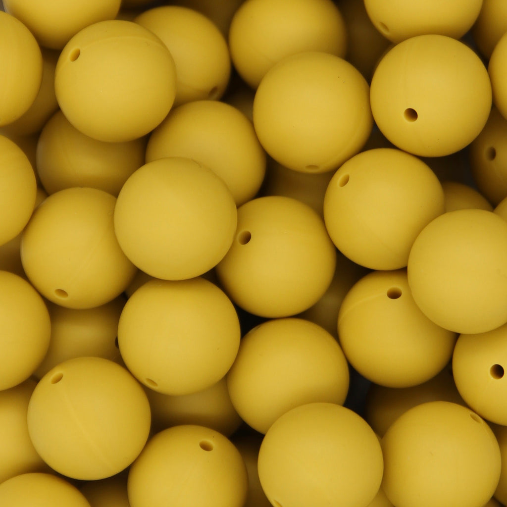 Mango 20mm Round Silicone Beads - 1 piece