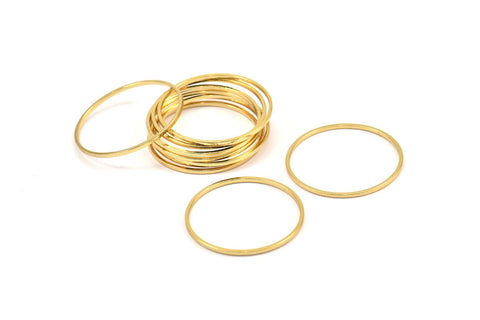 Circle Gold Plated Brass Connectors