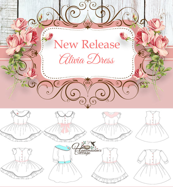 New Release: Alivia Dress PDF Sewing Pattern