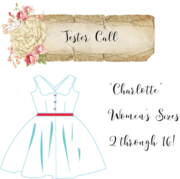 Tester Call for Charlotte Women's Dress