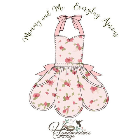 """NEW RELEASE"" A Mommy and Me Everyday Apron Set"" Women & Girls 3T through size 8"