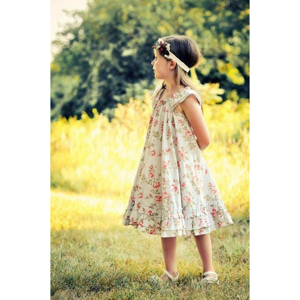 Girl's Swing Dress PDF Pattern - Handmaiden's Cottage