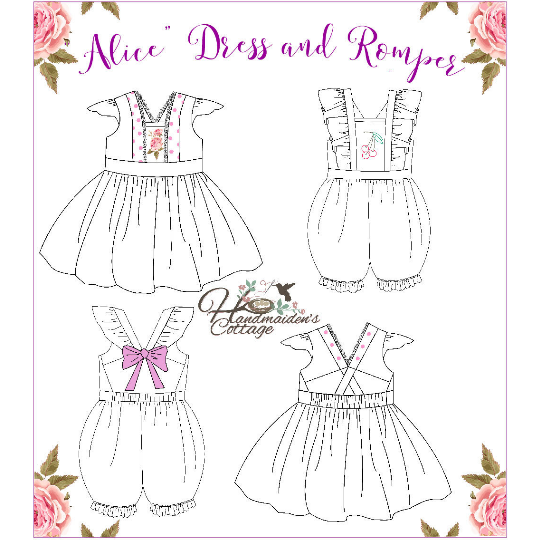 Alice Dress and Romper PDF Pattern ~**NEW**~ - Handmaiden's Cottage