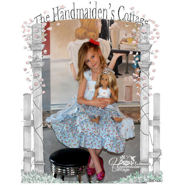 SPECIAL** PRINTED Pattern Set: Tea Party Dress & Dolly Dress - Handmaiden's Cottage