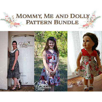 "A FREE 18"" Dolly PDF with Mommy and Me Pattern Bundle - Handmaiden's Cottage"