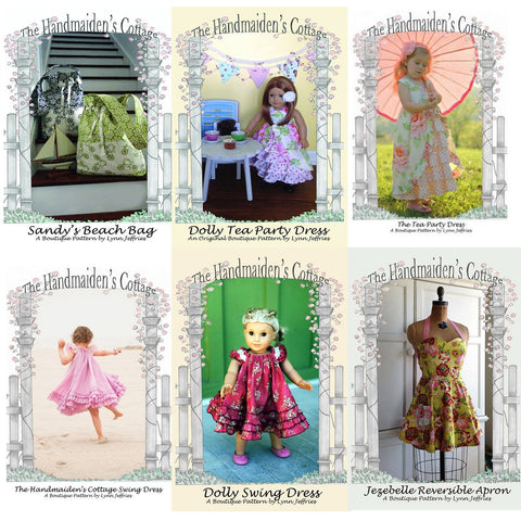 Pattern Set Special: 7 PRINTED Sewing Pattern Collection - Handmaiden's Cottage