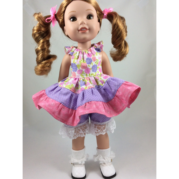 "Flutter Dress for 14.5"" Dolls PDF Pattern - Handmaiden's Cottage"