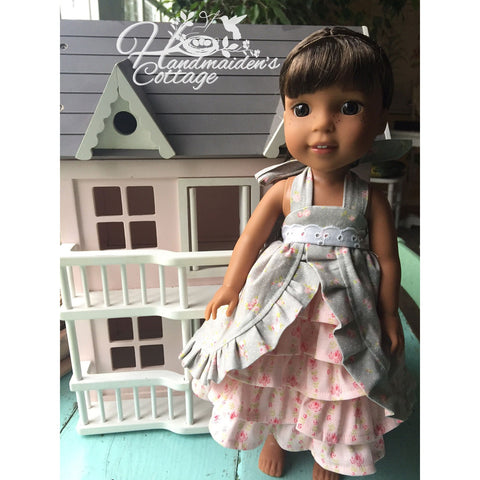"Dolly Tea Party Dress for 14.5"" Dolly PDF Pattern - Handmaiden's Cottage"