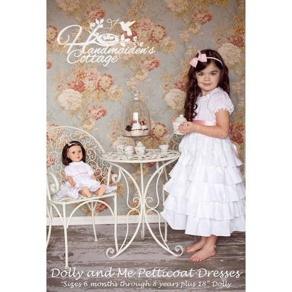 NEW Dolly and Me Petticoat Dresses PAPER PATTERN - Handmaiden's Cottage