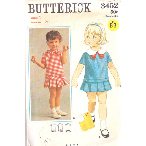 Butterick 3452 Girls Sailor Dress - Handmaiden's Cottage