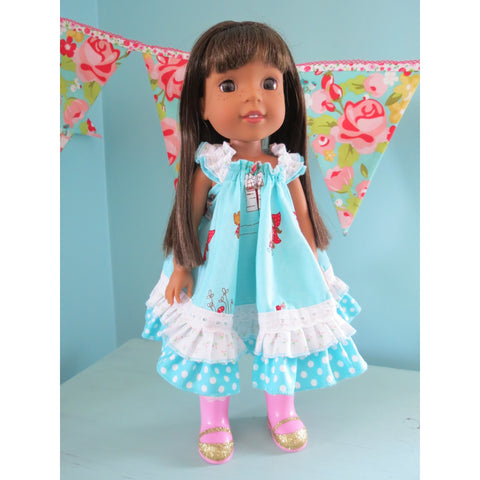 Swing Dress  for 14 1/2 inch Dolls PDF Pattern - Handmaiden's Cottage
