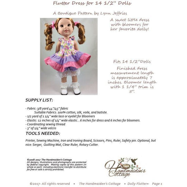 14.5 Inch Dolly PDF Pattern Bundle - Handmaiden's Cottage