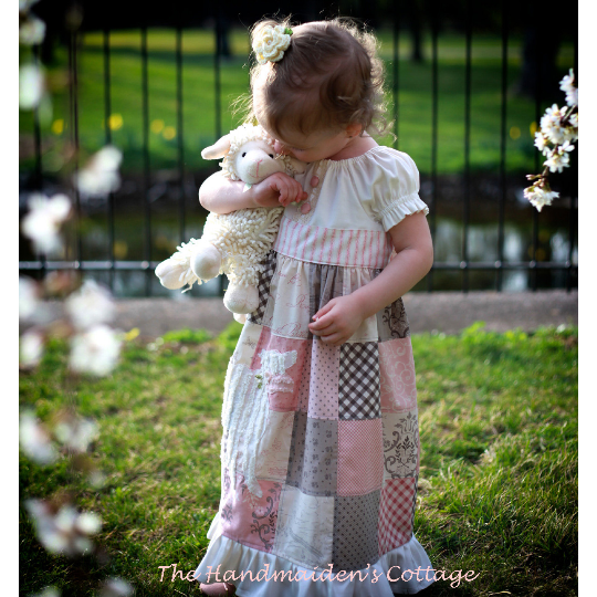Dolly and Me Patchwork Dress PDF patterns - Handmaiden's Cottage