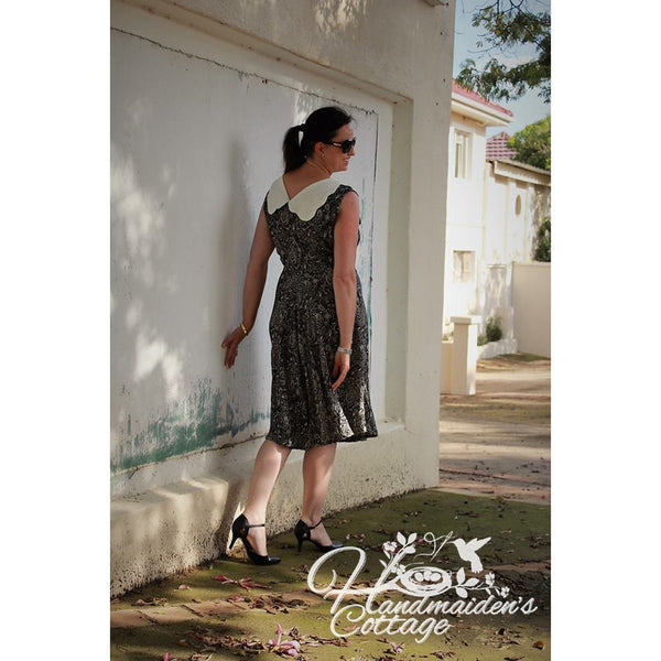 "NEW Women's ""Charlotte"" Dress PDF Pattern sizes 2 through size 16 - Handmaiden's Cottage"