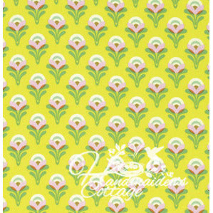 Buttercup in Lemon, Clementine, Heather Bailey FREE SPIRIT, one yard - Handmaiden's Cottage