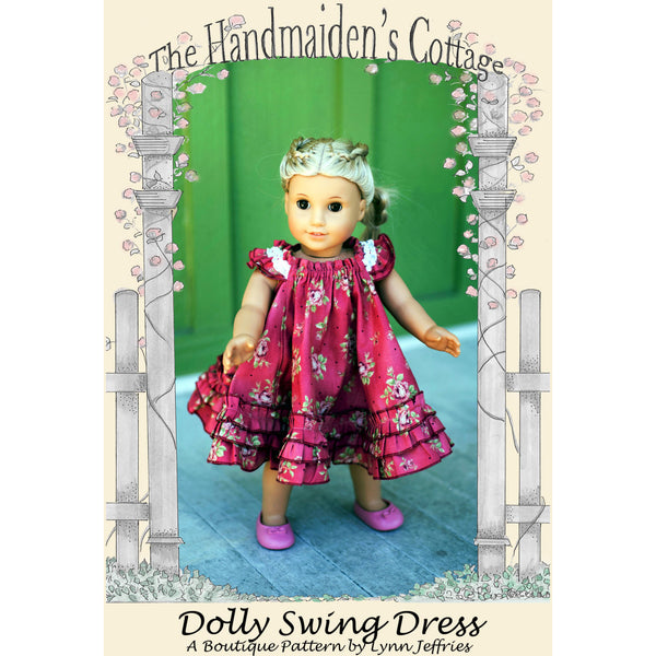 Dolly Swing Dress PRINTED PAPER Sewing Pattern - Handmaiden's Cottage