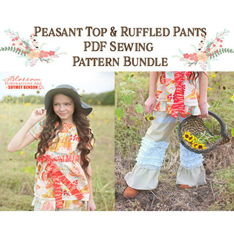 Pattern Set Special: Peasant Top and Ruffled Pants - Handmaiden's Cottage
