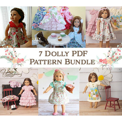 Bundle and Save: 7 Dolly PDF Pattern Collection - Handmaiden's Cottage