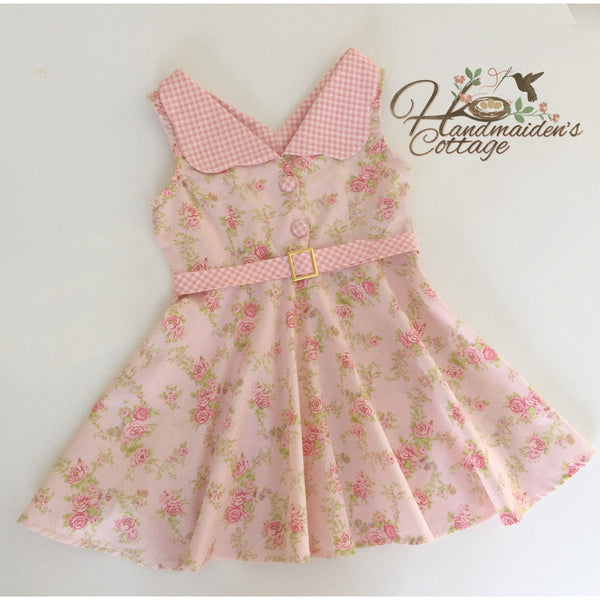 Pretty in Pink, Ready to Ship, Girls size 5 - Handmaiden's Cottage