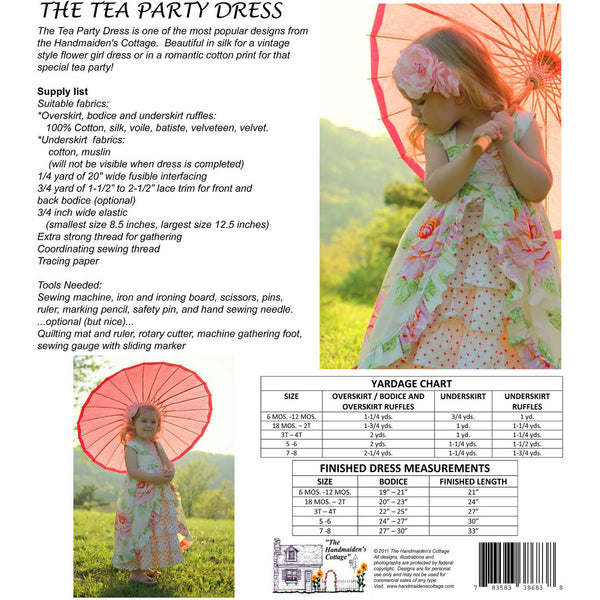 A Tea Party Dress PDF Pattern - Handmaiden's Cottage