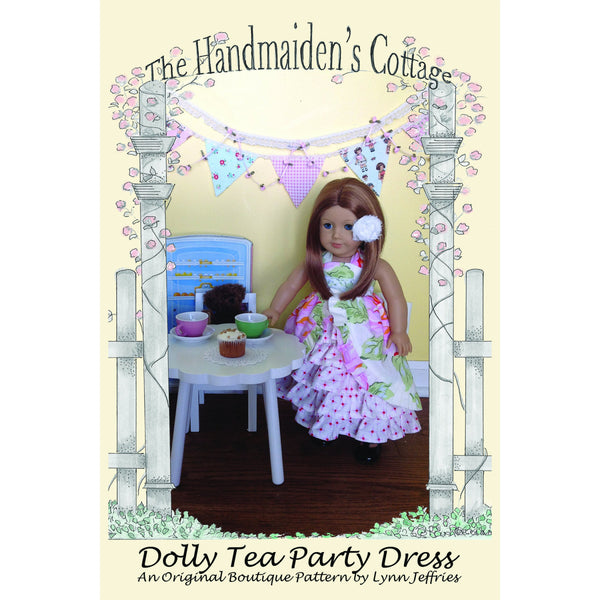 Dolly Tea Party Dress PRINTED PAPER Pattern - Handmaiden's Cottage