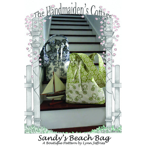 Sandy's Beach Bag PRINTED Pattern - Handmaiden's Cottage