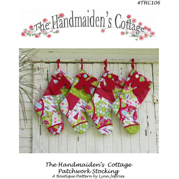 Patchwork Stocking PDF Pattern - Handmaiden's Cottage