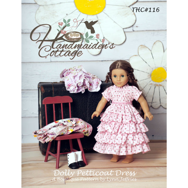 Dolly and Me Petticoat Dress PDF Pattern Set - Handmaiden's Cottage