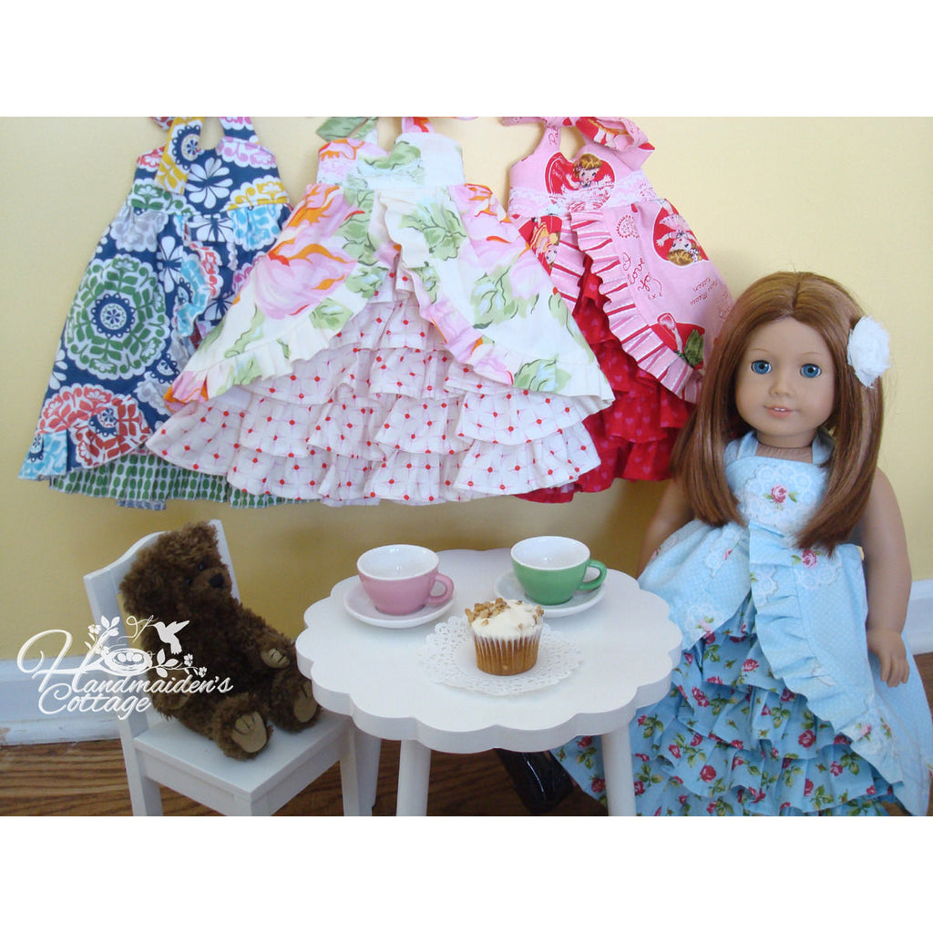 Tea Party Dolly Dress PDF PATTERN - Handmaiden's Cottage