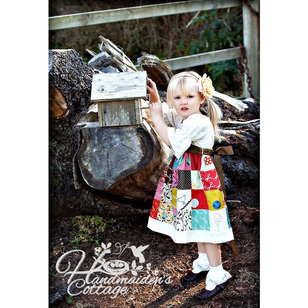 Patchwork Dress PDF Pattern - Handmaiden's Cottage